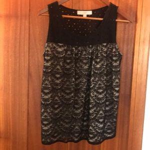 Ann Taylor Loft size M-Black lace sleeveless top